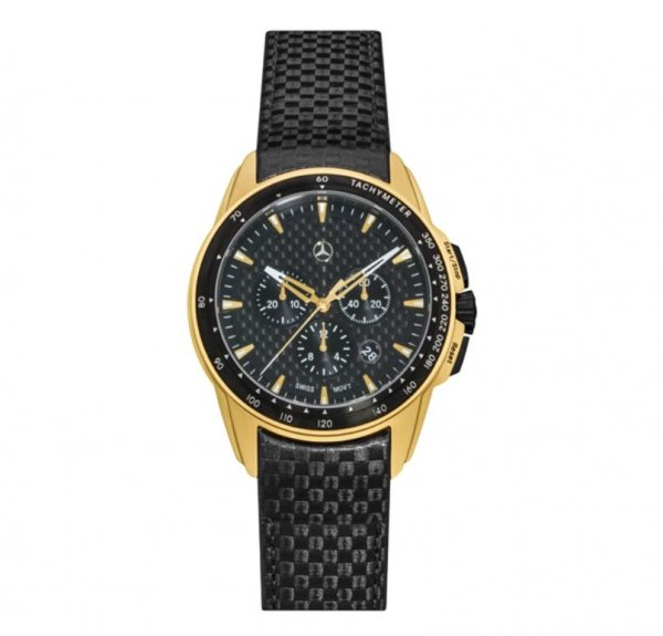 Chronograph Herren, Motorsport, Gold Edition